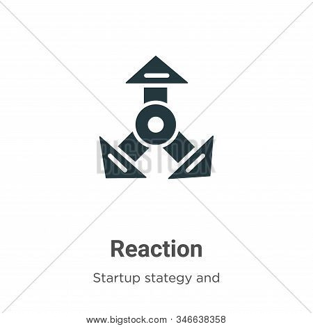 Reaction icon isolated on white background from startup collection. Reaction icon trendy and modern