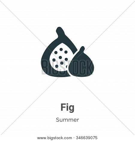 Fig icon isolated on white background from summer collection. Fig icon trendy and modern Fig symbol