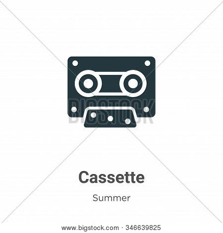 Cassette icon isolated on white background from summer collection. Cassette icon trendy and modern C