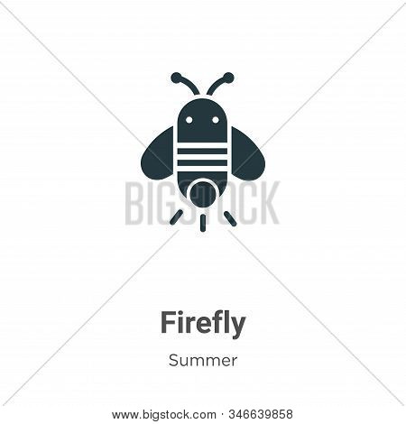 Firefly Glyph Icon Vector On White Background. Flat Vector Firefly Icon Symbol Sign From Modern Summ