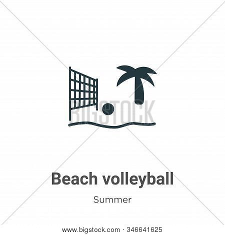 Beach volleyball icon isolated on white background from summer collection. Beach volleyball icon tre