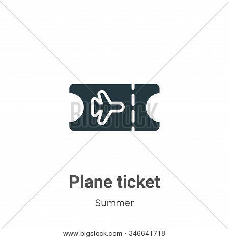 Plane ticket icon isolated on white background from summer collection. Plane ticket icon trendy and