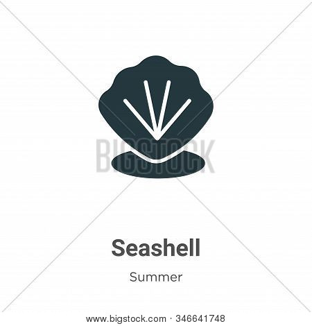 Seashell icon isolated on white background from summer collection. Seashell icon trendy and modern S