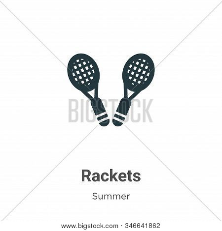 Rackets icon isolated on white background from summer collection. Rackets icon trendy and modern Rac