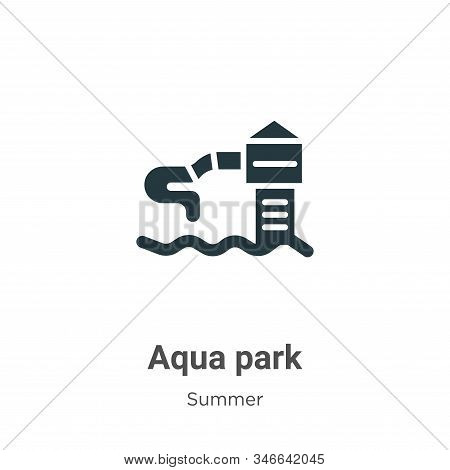 Aqua park icon isolated on white background from summer collection. Aqua park icon trendy and modern