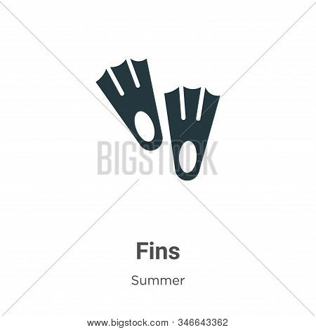 Fins icon isolated on white background from summer collection. Fins icon trendy and modern Fins symb