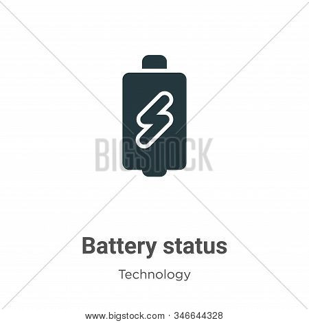 Battery status icon isolated on white background from technology collection. Battery status icon tre