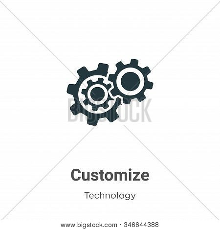 Customize Glyph Icon Vector On White Background. Flat Vector Customize Icon Symbol Sign From Modern