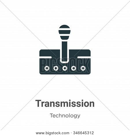 Transmission icon isolated on white background from technology collection. Transmission icon trendy