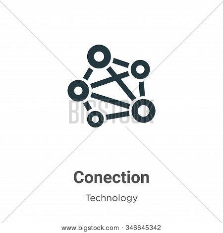 Conection icon isolated on white background from technology collection. Conection icon trendy and mo