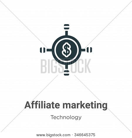 Affiliate marketing icon isolated on white background from technology collection. Affiliate marketin