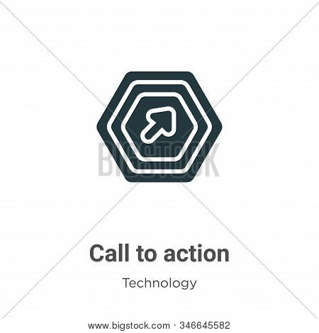Call to action icon isolated on white background from technology collection. Call to action icon tre