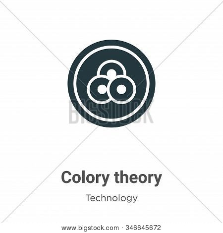 Colory theory icon isolated on white background from technology collection. Colory theory icon trend