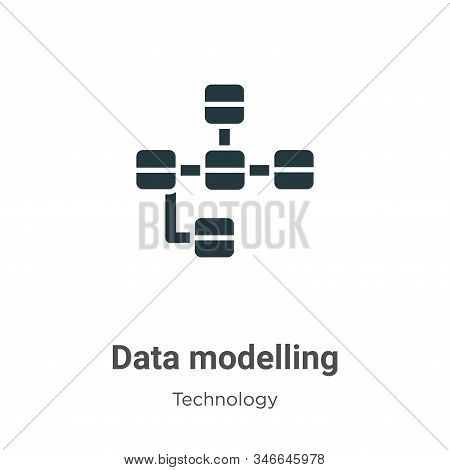 Data modelling icon isolated on white background from technology collection. Data modelling icon tre