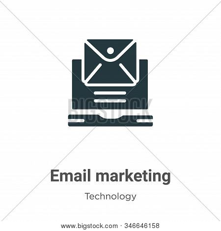 Email marketing icon isolated on white background from technology collection. Email marketing icon t