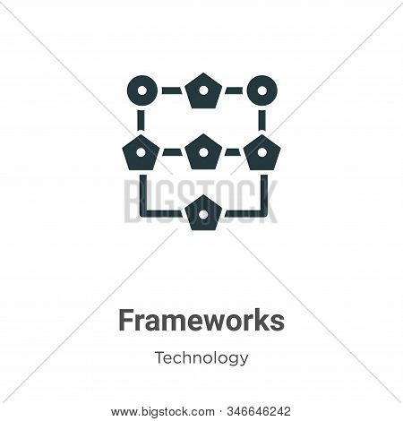 Frameworks Glyph Icon Vector On White Background. Flat Vector Frameworks Icon Symbol Sign From Moder