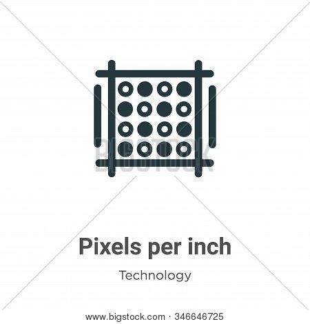 Pixels per inch icon isolated on white background from technology collection. Pixels per inch icon t