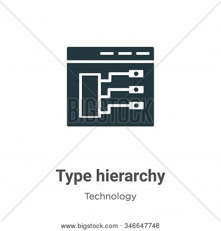 Type hierarchy icon isolated on white background from technology collection. Type hierarchy icon tre