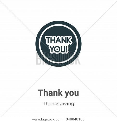Thank you icon isolated on white background from thanksgiving collection. Thank you icon trendy and