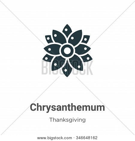 Chrysanthemum icon isolated on white background from thanksgiving collection. Chrysanthemum icon tre
