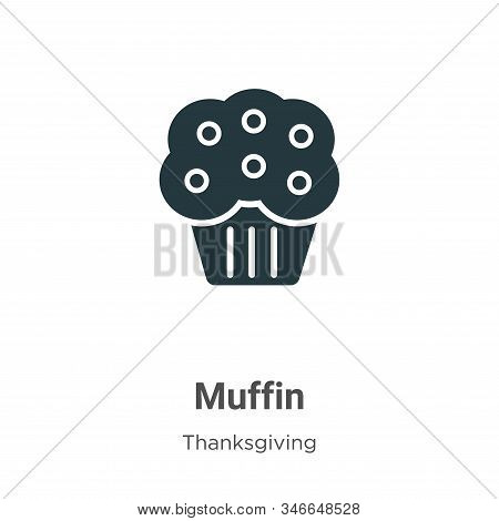 Muffin icon isolated on white background from thanksgiving collection. Muffin icon trendy and modern