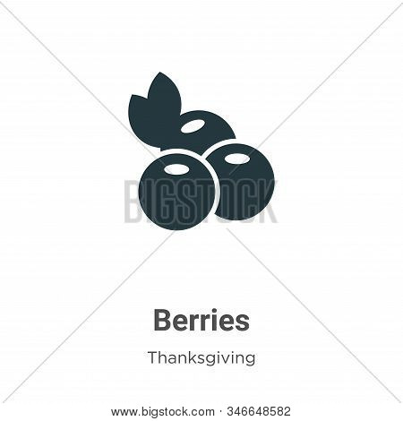 Berries icon isolated on white background from thanksgiving collection. Berries icon trendy and mode