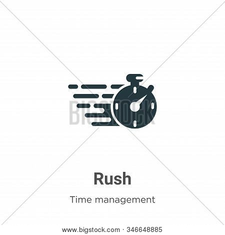 Rush icon isolated on white background from time management collection. Rush icon trendy and modern