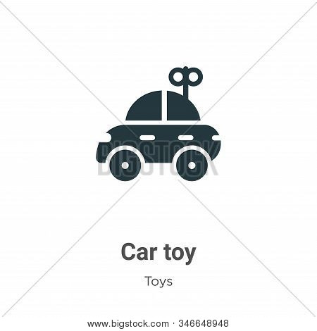 Car toy icon isolated on white background from toys collection. Car toy icon trendy and modern Car t