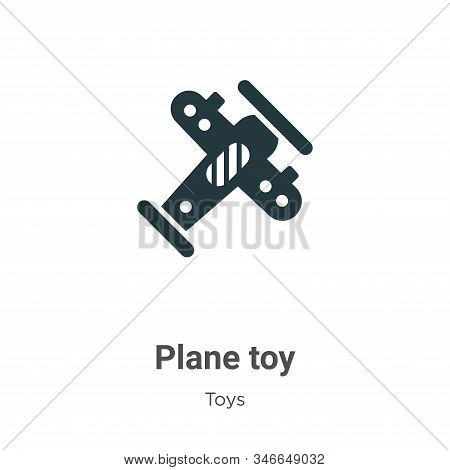 Plane toy icon isolated on white background from toys collection. Plane toy icon trendy and modern P