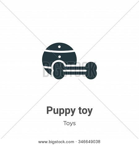 Puppy Toy Glyph Icon Vector On White Background. Flat Vector Puppy Toy Icon Symbol Sign From Modern