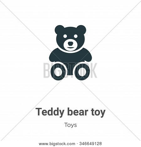 Teddy Bear Toy Glyph Icon Vector On White Background. Flat Vector Teddy Bear Toy Icon Symbol Sign Fr