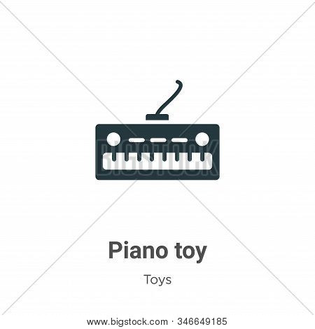 Piano toy icon isolated on white background from toys collection. Piano toy icon trendy and modern P