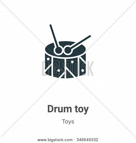 Drum toy icon isolated on white background from toys collection. Drum toy icon trendy and modern Dru