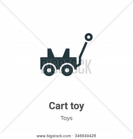 Cart toy icon isolated on white background from toys collection. Cart toy icon trendy and modern Car