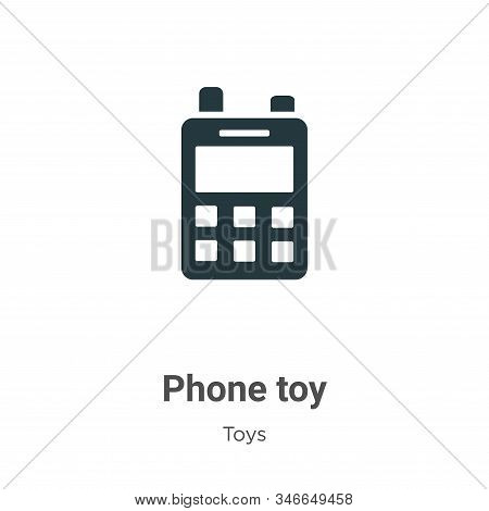 Phone toy icon isolated on white background from toys collection. Phone toy icon trendy and modern P