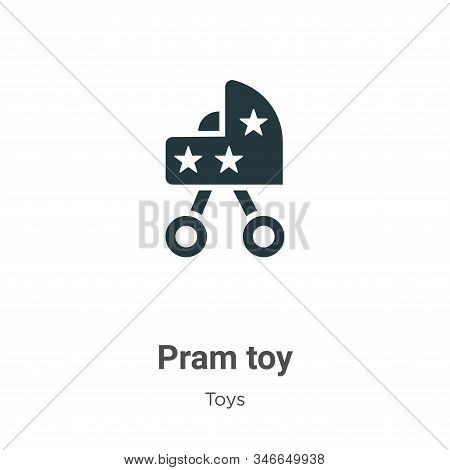 Pram Toy Glyph Icon Vector On White Background. Flat Vector Pram Toy Icon Symbol Sign From Modern To