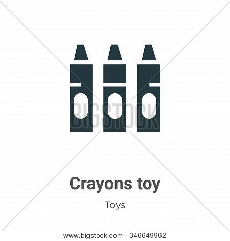 Crayons toy icon isolated on white background from toys collection. Crayons toy icon trendy and mode