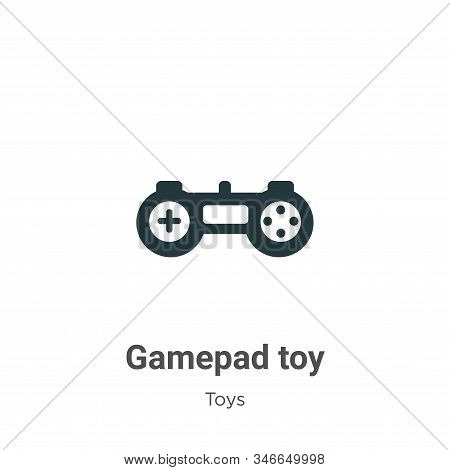 Gamepad toy icon isolated on white background from toys collection. Gamepad toy icon trendy and mode