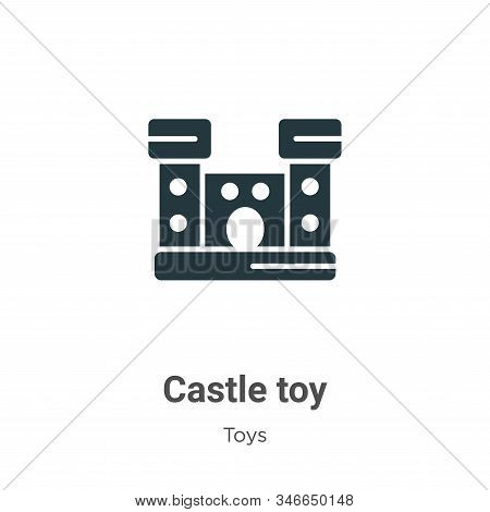 Castle toy icon isolated on white background from toys collection. Castle toy icon trendy and modern