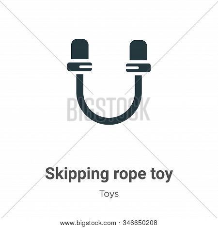 Skipping rope toy icon isolated on white background from toys collection. Skipping rope toy icon tre