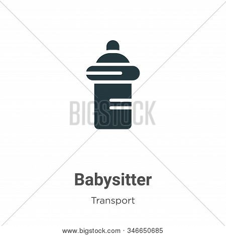 Babysitter Glyph Icon Vector On White Background. Flat Vector Babysitter Icon Symbol Sign From Moder
