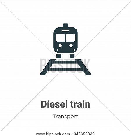 Diesel Train Glyph Icon Vector On White Background. Flat Vector Diesel Train Icon Symbol Sign From M