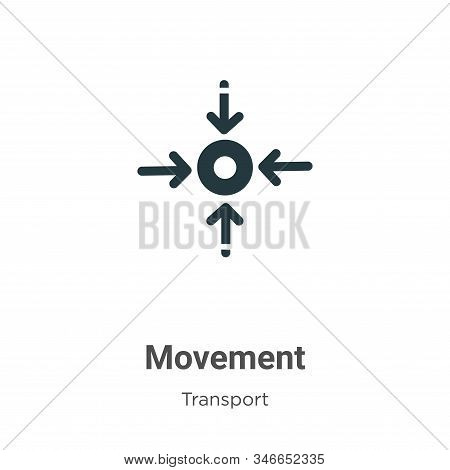 Movement icon isolated on white background from transport collection. Movement icon trendy and moder