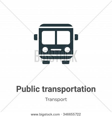 Public transportation icon isolated on white background from transport collection. Public transporta