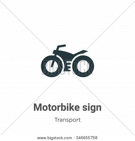 Motorbike Sign Glyph Icon Vector On White Background. Flat Vector Motorbike Sign Icon Symbol Sign Fr