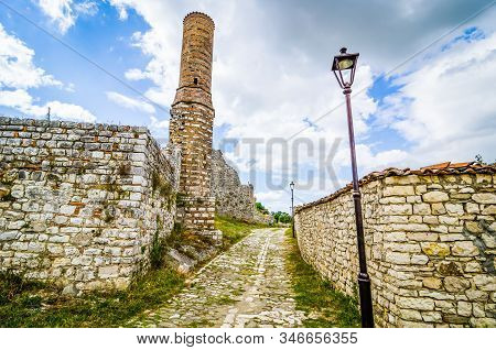 Kalaja E Beratit - Citadel Of Berat And Castle Quarter, Is A Fortress Overlooking The Town Of Berat,