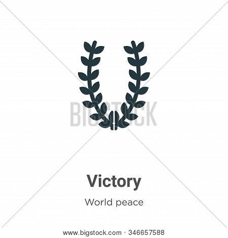 Victory icon isolated on white background from world peace collection. Victory icon trendy and moder