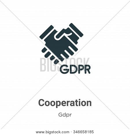 Cooperation icon isolated on white background from gdpr collection. Cooperation icon trendy and mode