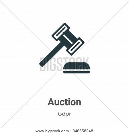 Auction icon isolated on white background from gdpr collection. Auction icon trendy and modern Aucti