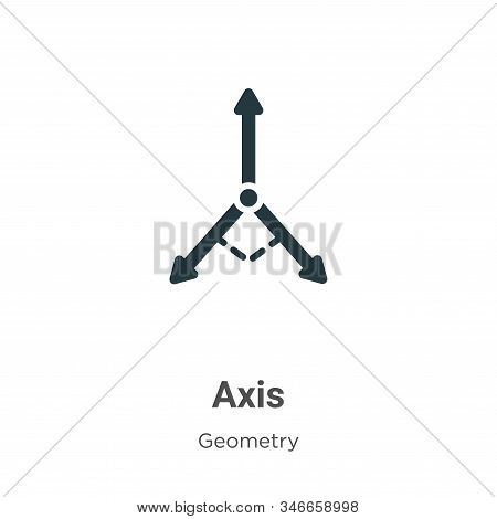 Axis icon isolated on white background from geometry collection. Axis icon trendy and modern Axis sy